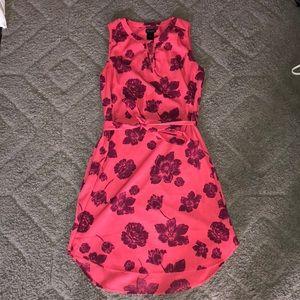 Ann Taylor size s, short pink floral print dress
